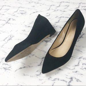 Talbots | black professional small wedge shoe